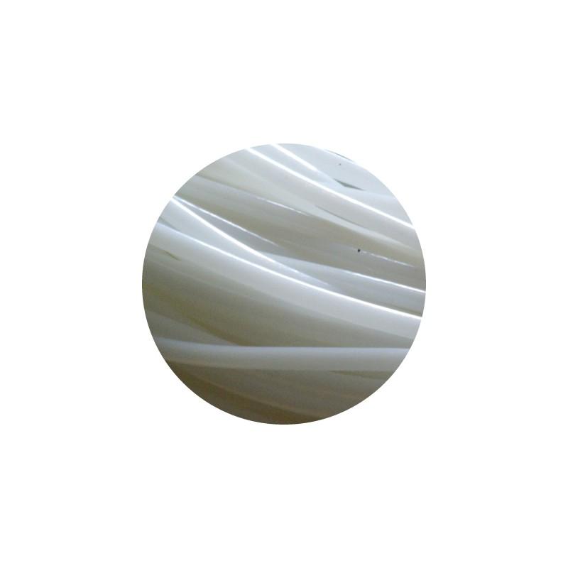 Cordon pvc creux de couleur blanc nacre 5mm perlesmetal for Pvc de couleur