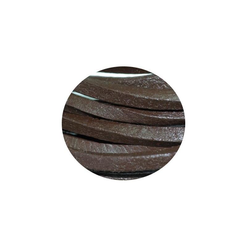 Cordon de cuir carre marron 4mm perlesmetal - Cuir au metre carre ...