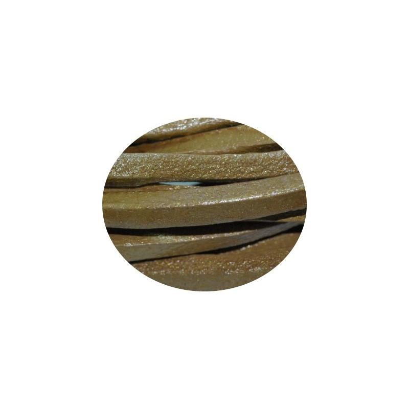 Cordon de cuir carre or 4mm perlesmetal - Cuir au metre carre ...