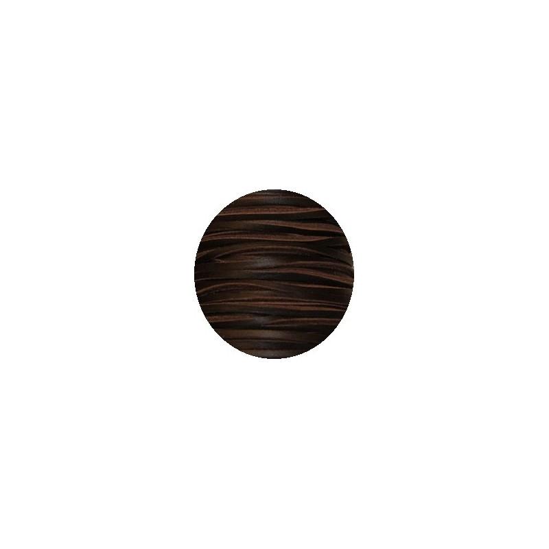 Cordon de cuir carre de couleur marron de 3mm vendu la coupe - Cuir au metre carre ...