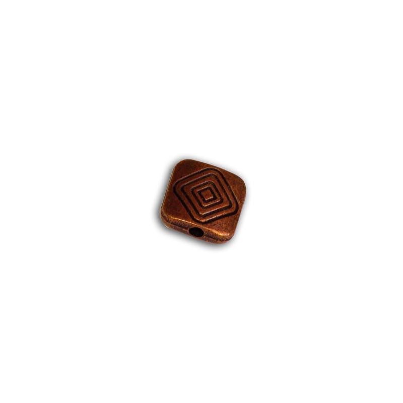 perle metal carree couleur cuivre antique 10mm perlesmetal. Black Bedroom Furniture Sets. Home Design Ideas