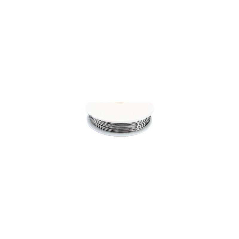 bobine de fil cable epais acier gaine 1mm 8m tres. Black Bedroom Furniture Sets. Home Design Ideas