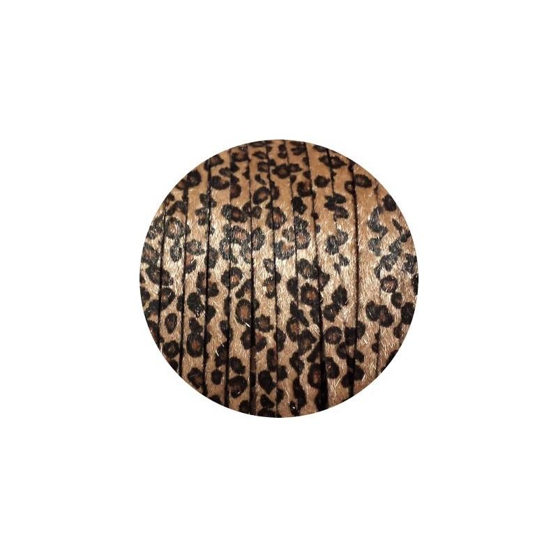 Laniere de cuir plat 6mm leopard poils synth tiques vendu au metre - Cuir pas cher au metre ...