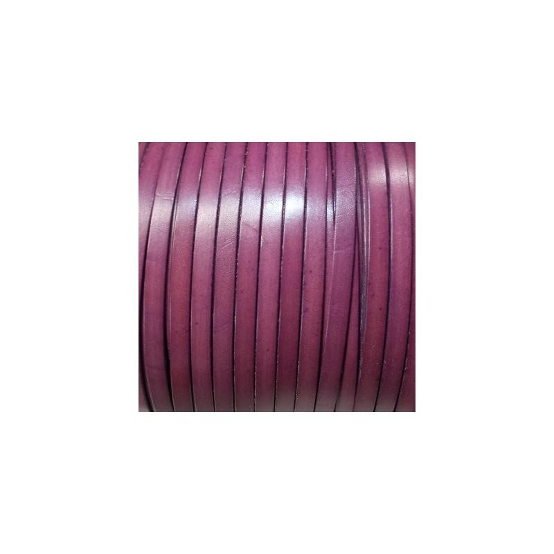 Cuir plat de 10mm couleur violet prune vente au cm - Violet prune couleur ...