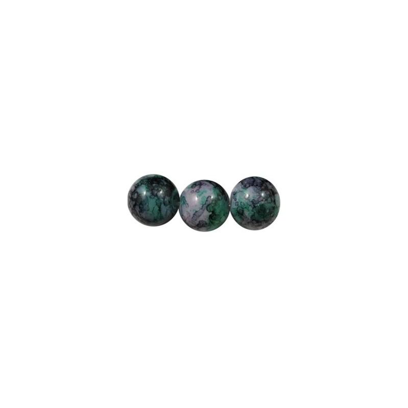 Pochette de 50 perles en verre peint premier prix 3 couleurs 6mm perlesmetal - Papier peint premier prix ...