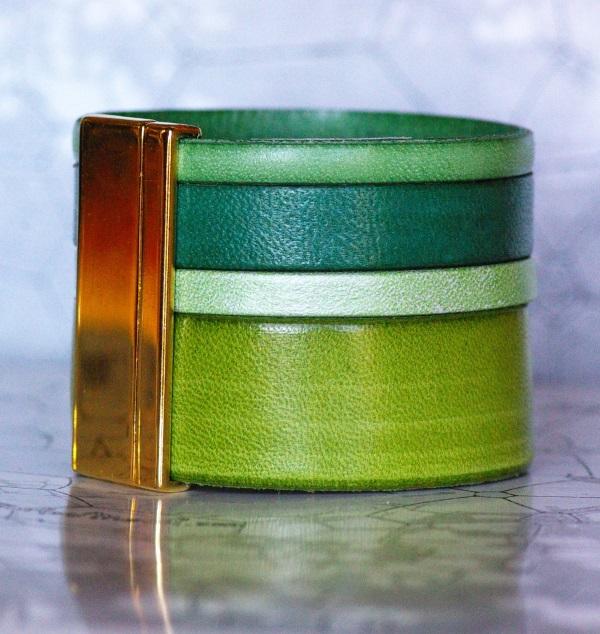 bracelet de 40mm de large en dégradé de verts