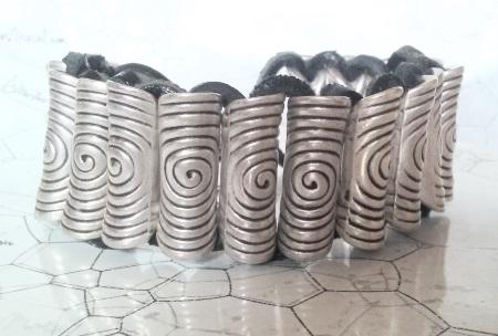 Bracelet pour homme cuir et métal